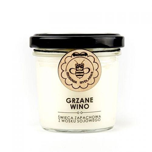Świeca z wosku sojowego GRZANE WINO Miodowa Mydlarnia, 120ml