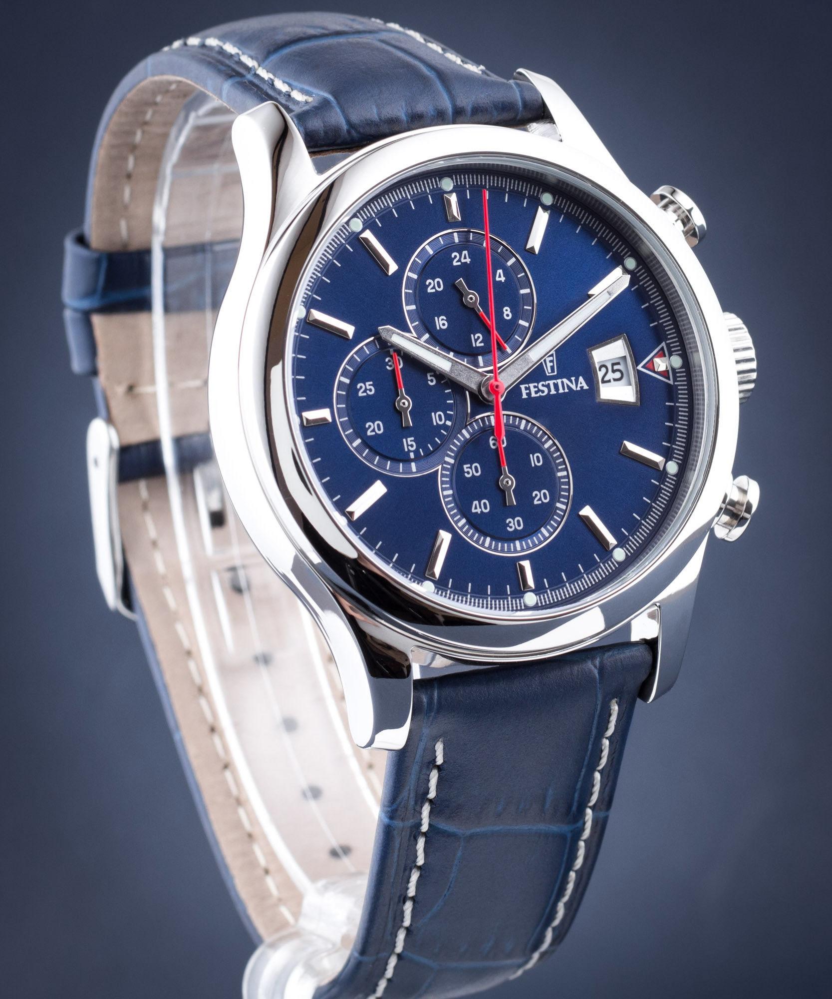 Zegarek Festina F20375-2 Timeless Chronograph - CENA DO NEGOCJACJI - DOSTAWA DHL GRATIS, KUPUJ BEZ RYZYKA - 100 dni na zwrot, możliwość wygrawerowania dowolnego tekstu.