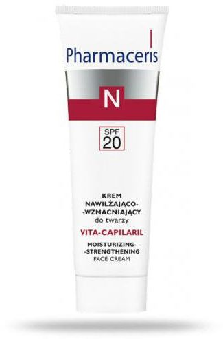 Pharmaceris N Vita-Capilaril krem SPF20 nawilżająco wzmacniający do twarzy 50 ml [KUP 2 produkty Pharmaceris N = Tonik-mgiełka wzmacniający naczynka 1 sztuka]