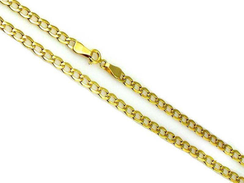Złoty łańcuszek 585 splot pancerka 55 cm 4,0 g
