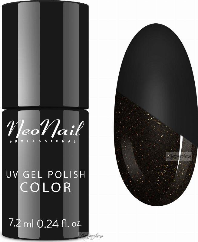 NeoNail - UV GEL POLISH - TOP GLOW GOLD - Top / Lakier nawierzchniowy z błyszczącymi drobinkami - 7,2 ml - ART. 7240-7