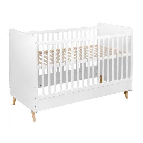 Białe łóżeczko niemowlęce Quax Loft 140x70