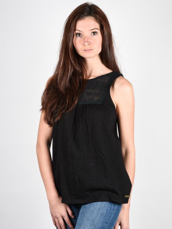 Element LUCY black bawełniany podkoszulek damski