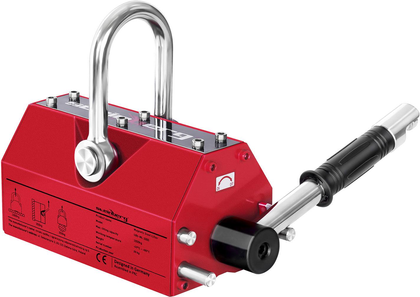 Podnośnik magnetyczny - 1000 kg - Steinberg Systems - SBS-ML 1000 - 3 lata gwarancji/wysyłka w 24h