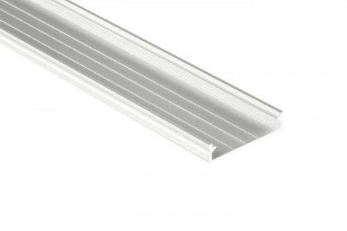 PROFIL nawierzchniowy biały anodowany typ SOLIS 1 metr na 3 taśmy 10 mm