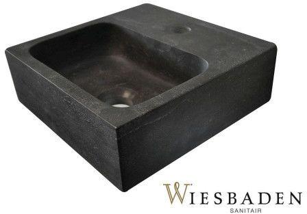 Mała umywalka z kamienia B 30x30cm, RĘCZNIE WYKONANY