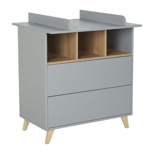 Szara komoda Quax Loft z dwoma szufladami