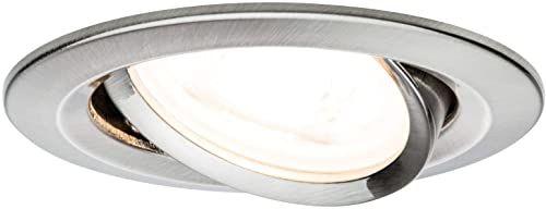 Paulmann 93641 Nova LED oprawa do zabudowy okrągła, spot sufitowy, żelazo, maks. 35W, rama montażowa, GU10, reflektor sufitowy do zabudowy