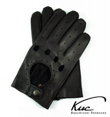 Męskie, skórzane rękawiczki samochodowe Kuc