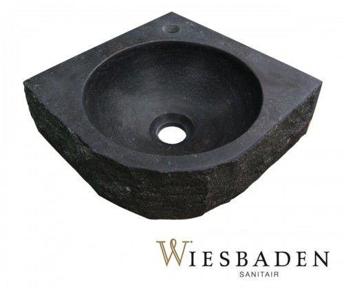 Mała umywalka z kamienia narożna B 30x30cm, RĘCZNIE WYKONANY