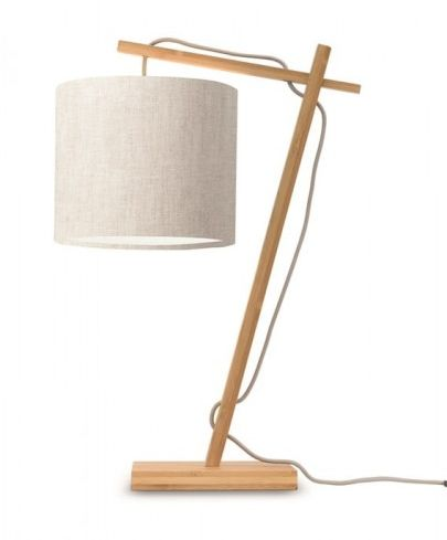 Lampa biurkowa naturalna Andes 18x15 jasny len