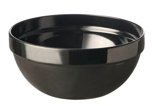 Miska okrągła z melaminy czarna różne wymiary