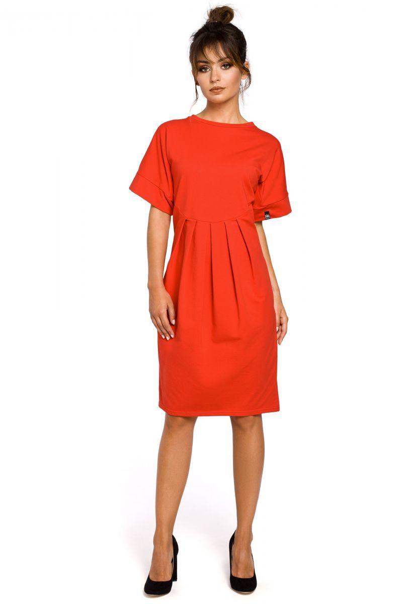 B045 sukienka czerwona
