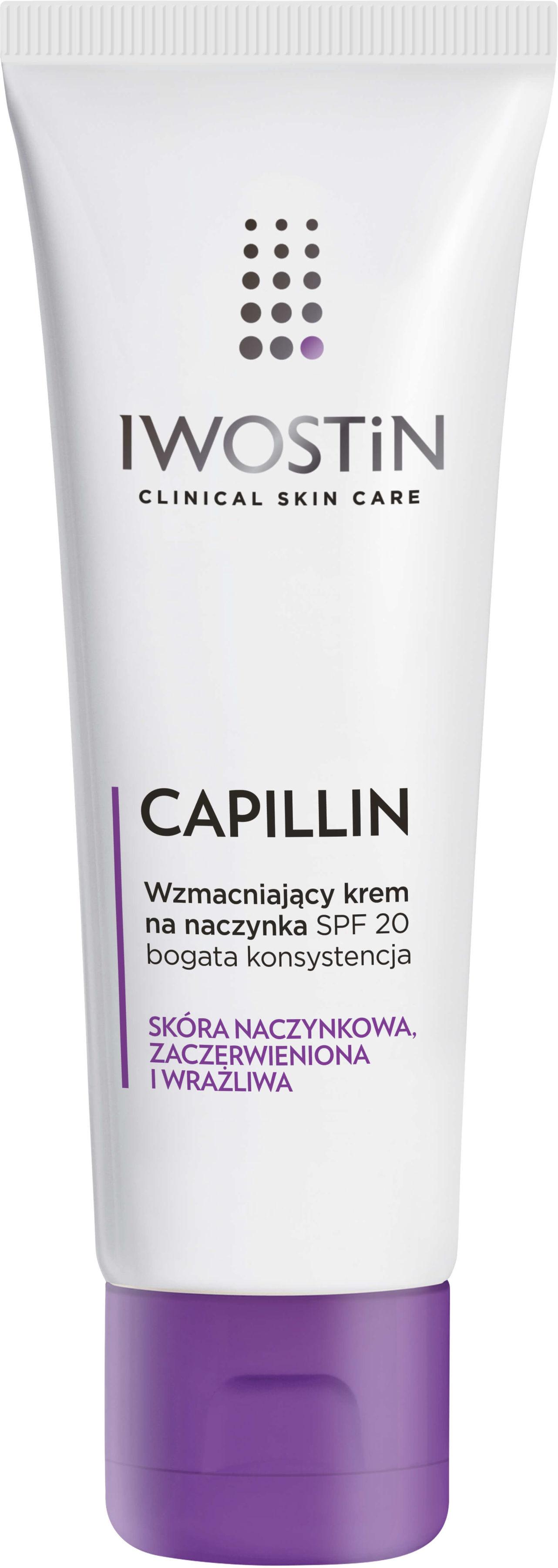 Iwostin capillin wzmacniający krem na naczynka SPF20 40 ml