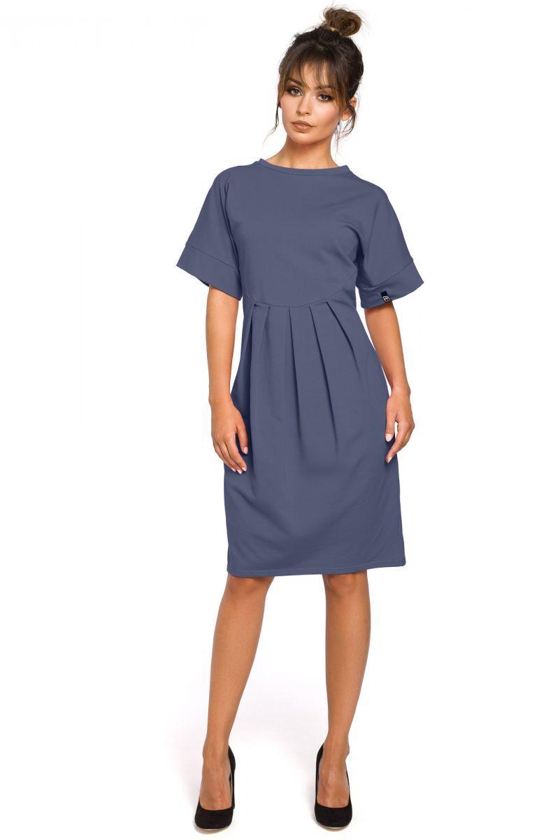 B045 sukienka niebieska