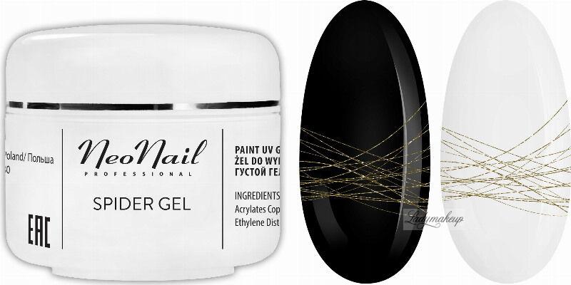 NeoNail - SPIDER GEL - Żel do do wykonywania trwałych zdobień na paznokciach - 7238 GOLD