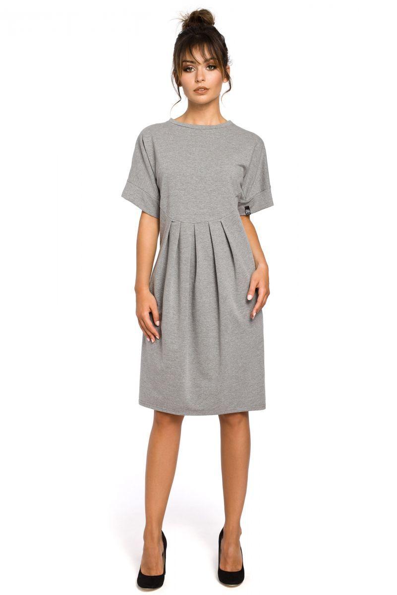 B045 sukienka szara