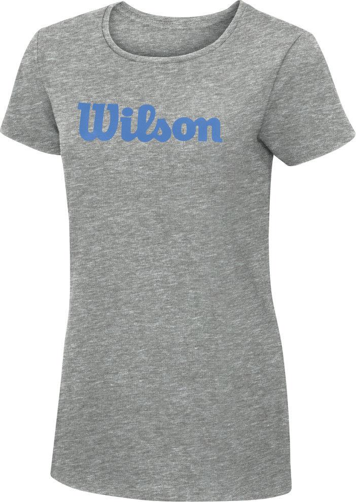 Wilson W Script Cotton Tea - heath. grey