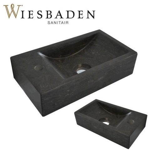 Mała umywalka z kamienia B-STONE XS 36x18cm, RĘCZNIE WYKONANY
