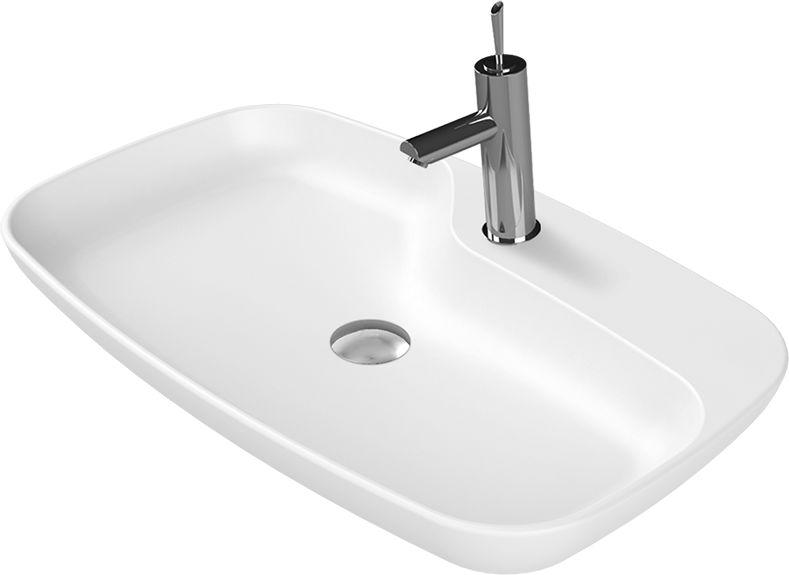 CeraStyle umywalka nablatowa Nova biały mat 70 cm 074400-u97