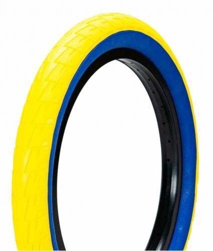 "Opona BMX 20"" Lagos Crawler Yellow Blue"