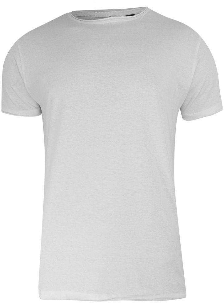 T-Shirt (Koszulka) Biały Bez Nadruku, Okrągły Dekolt, Postrzępione Brzegi -BRAVE SOUL- Męski TSBRSSS21FRESHERopticwhite