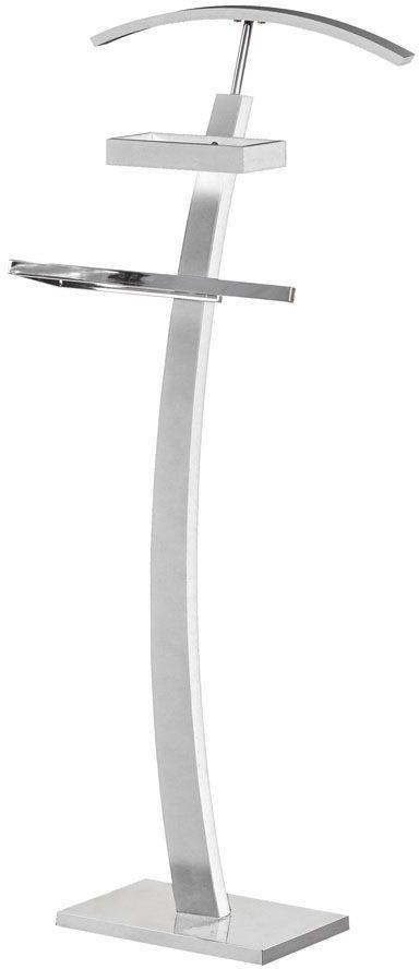 Drewniany wieszak stojący Arton 2X - biały