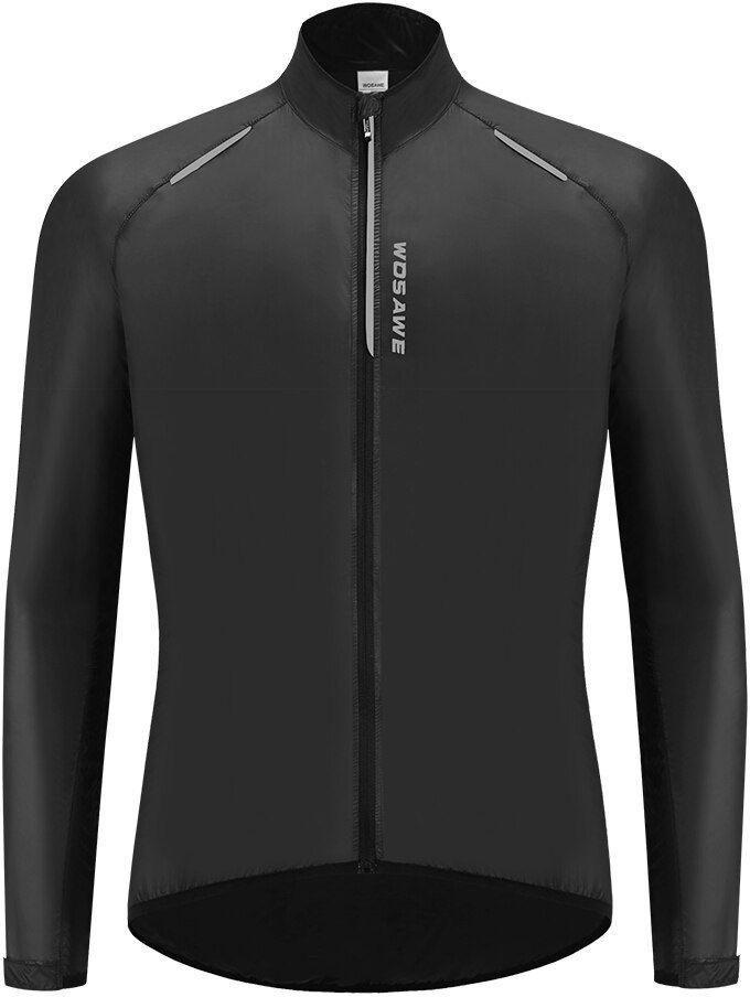 WOSAWE BL243-B męska ultralekka kurtka wiatrówka rowerowa, czarna Rozmiar: L,BL243-B