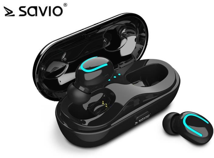 Słuchawki bezprzewodowe z mikrofonem Savio TWS-05 Bluetooth