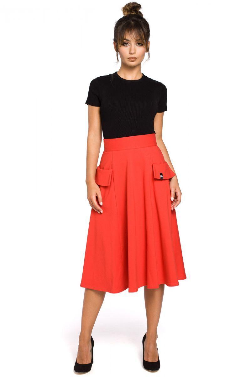 B046 spódnica czerwona