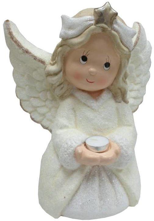 Figurka aniołek na tealighta 35 cm