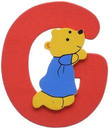 Woodyland 6 x 8 cm alfabet G z niedźwiedziem