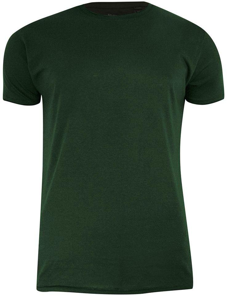 T-Shirt (Koszulka) Zielony, Khaki Bez Nadruku, Okrągły Dekolt, Postrzępione Brzegi BRAVE SOUL- Męski TSBRSSS21FRESHERkhaki