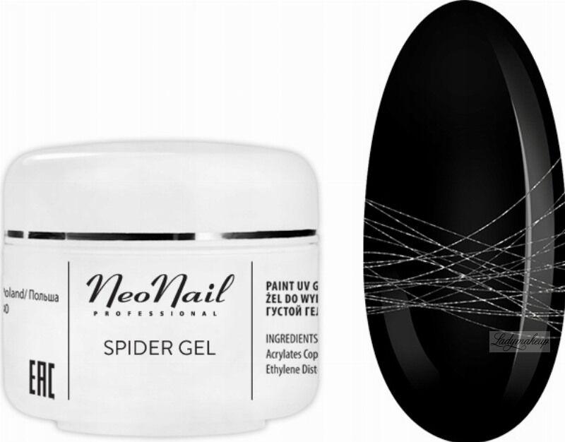 NeoNail - SPIDER GEL - Żel do do wykonywania trwałych zdobień na paznokciach - 7237 SILVER
