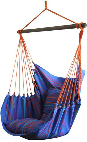 Fotel hamakowy, niebieski / turkusowy HC10