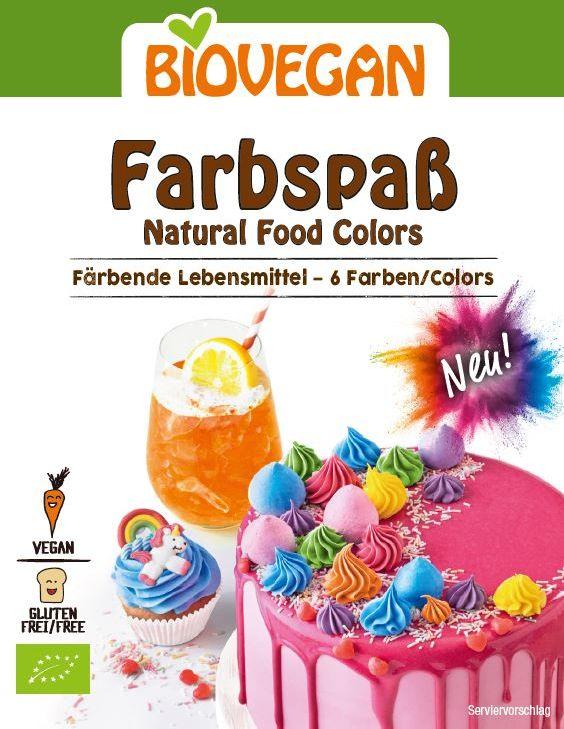 Barwniki spożywcze bezglutenowe bio 6 x 8 g - bio vegan