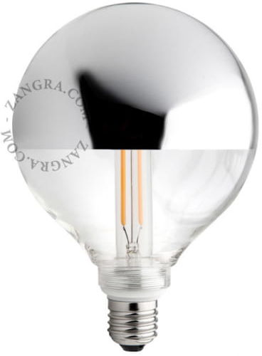Żarówka Z odkręcanym kloszem LED Srebrna Korona