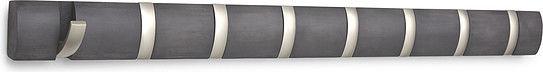Umbra Nowoczesny wieszak ścienny Flip 8 szary / driftwood - 318858-1143