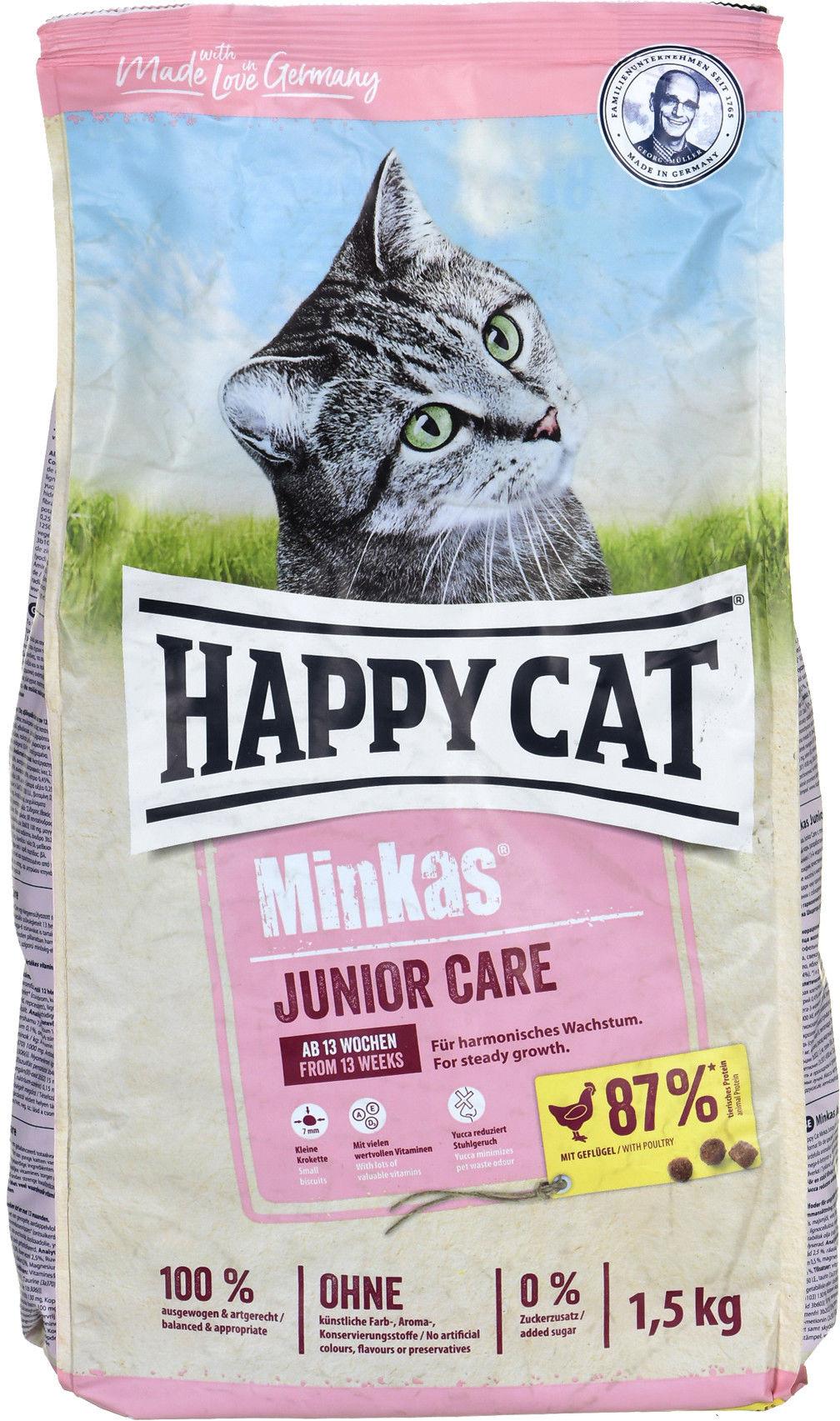HC-8163 Happy Cat Minkas Junior Care (drób) 1.5kg