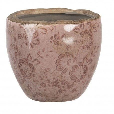 Ceramiczna Osłonka Na Doniczkę Różowa S