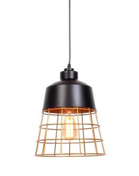 Lumina Deco Bagsy industrialna loftowa czarna lampa wisząca