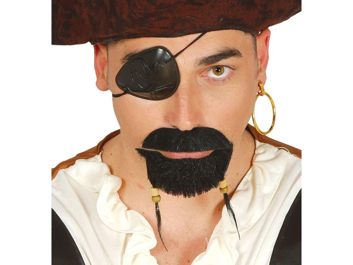 Zarost pirata - wąsy i broda