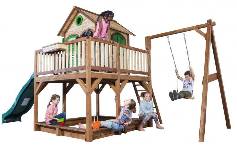 Wielki Plac Zabaw Huśtawka Zjeżdżalnia Domek Richmond na palach LK