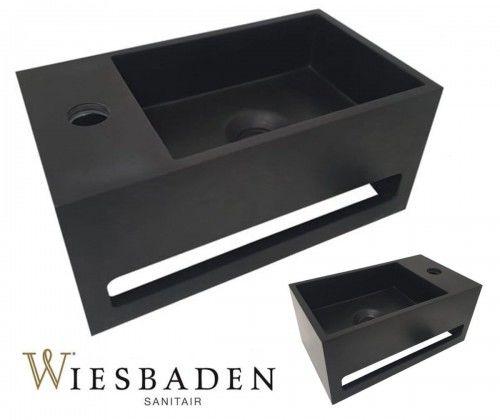 Umywalka mała prostokątna 35x20x16 cm JULIA, czarna matowa