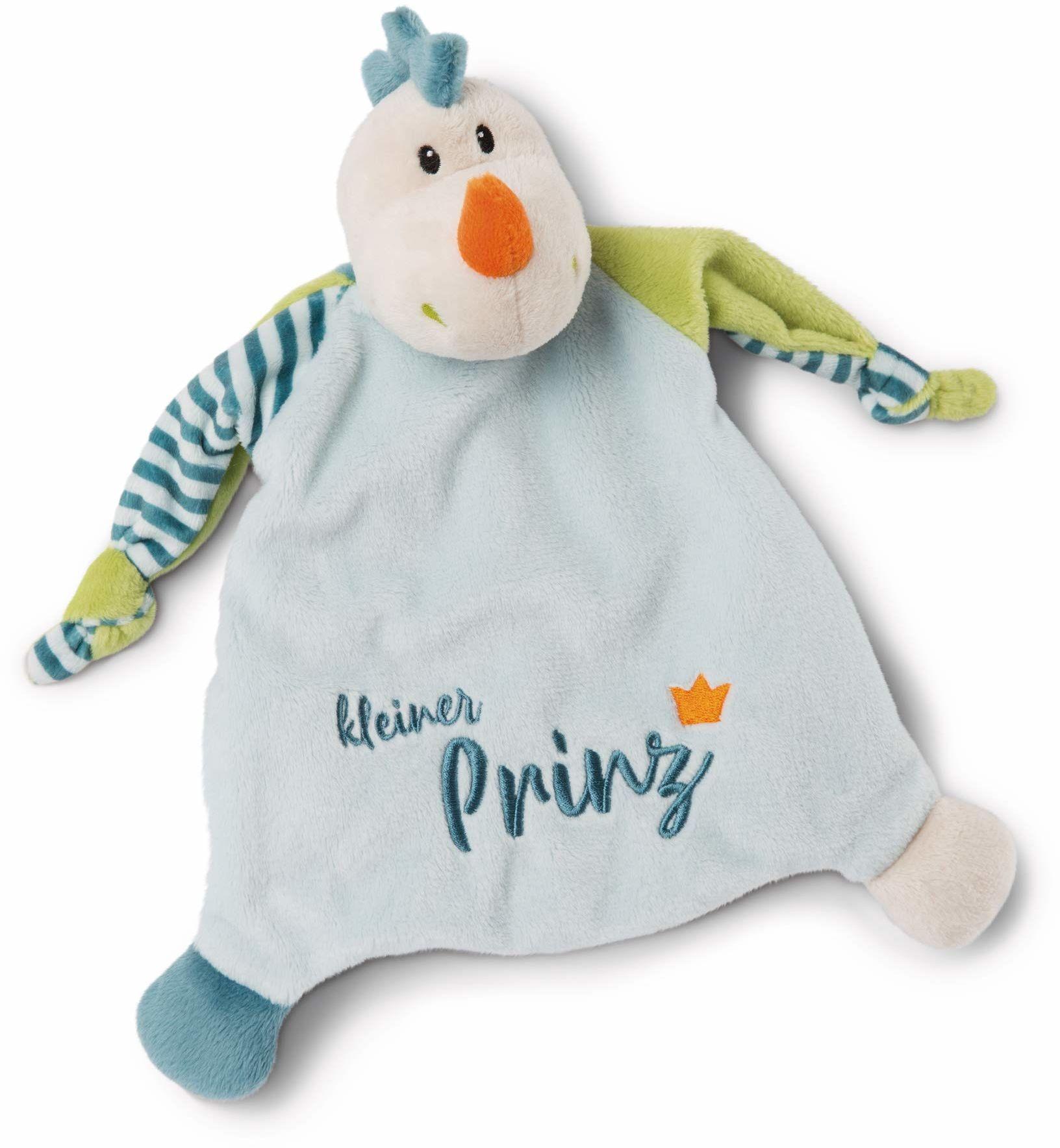 NICI 46734 smok mały książecz,25 x 25 cm od 0+ miesięcy  przytulanka dla niemowląt i małych dzieci  pluszak dla dzieci  ręcznik do przytulania dla dziewczynek i chłopców, niebiesko-zielony