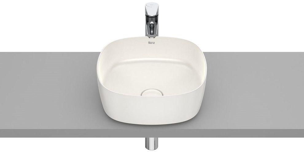 Roca Inspira Soft umywalka nablatowa 37cm beżowy A327502650
