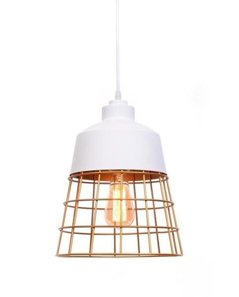 Lumina Deco Bagsy industrialna loftowa biała lampa wisząca