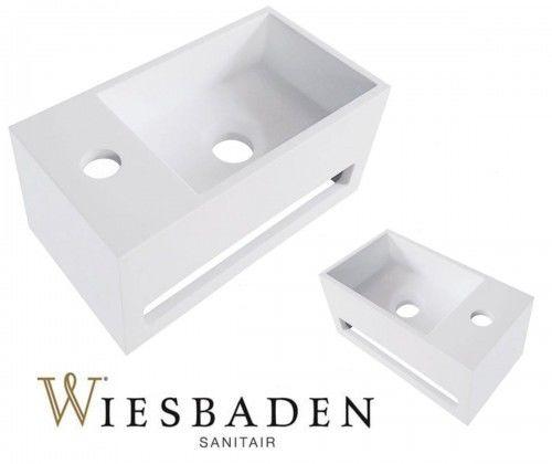 Umywalka mała prostokątna 35x20x16 cm JULIA, biała