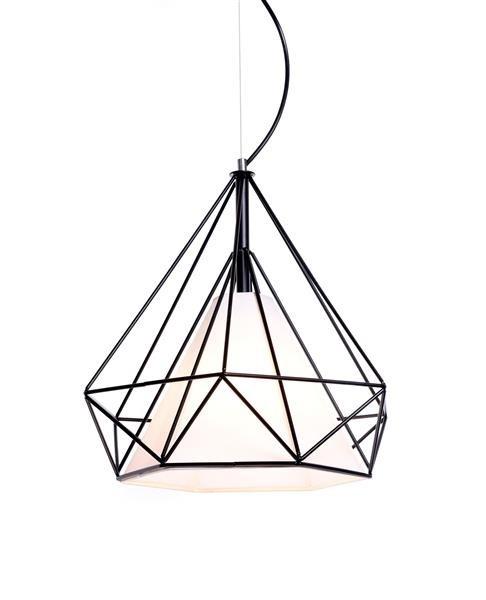 Lumina Deco Forti skandynawska czarna lampa wisząca