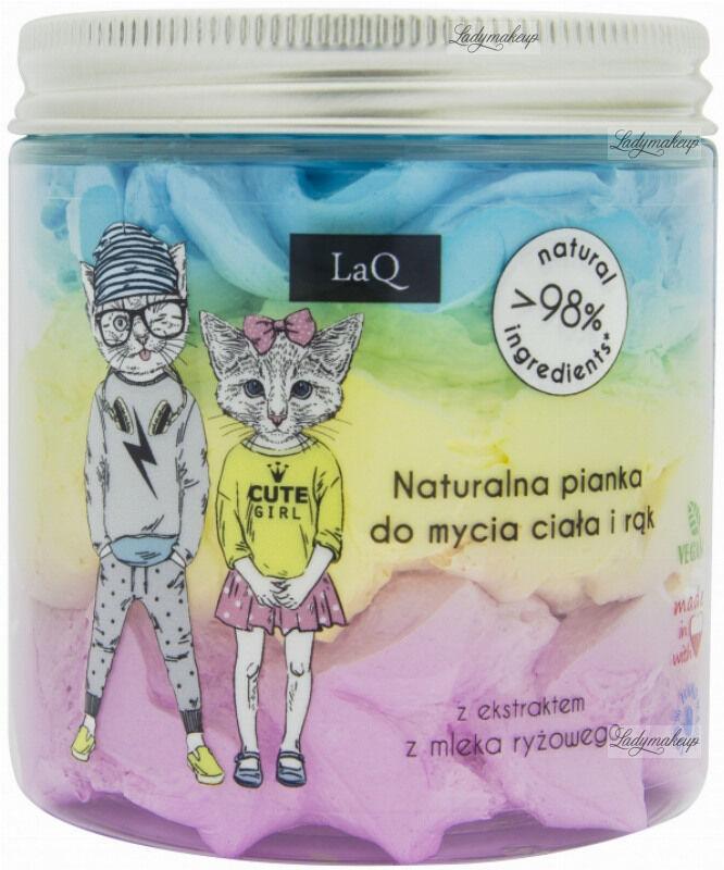 LaQ - Naturalna pianka do mycia ciała dla dzieci o zapachu gumy balonowej